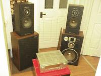 SPEAKERS & SURROUND SOUND RECEIVER