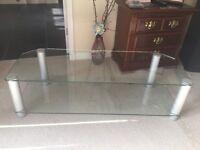 Glass TV or Hi Fi Stand