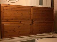 Wooden wardrobes - golden oak colour