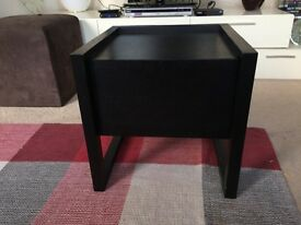 Bedside table, black, one drawer, good condition