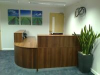 Reception Desk in Walnut 2000mm/Ref: 0413