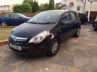 2012 '62 Plate Vauxhall Corsa ecoflex -Black, DIESEL, Low Mileage, 1 Year MOT, Excellent Condition