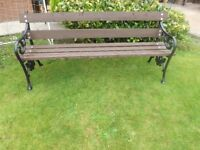 Decorative Cast Iron Bench - 6ft long