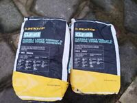5 X Dunlop Large Format & Natural Stone Adhesive White and Grey 20kg