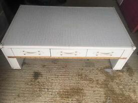Coffee table with drawers solid