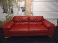 Italian Leather Sofa - 3 seater - £125