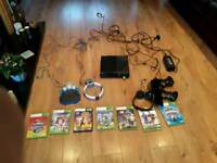 Xbox 360 E With Kinect, 2 Controllers , Turtle Beach Headphones & Microphone