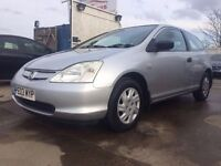 2003 │Honda Civic 1.4 Imagine │Manual │Petrol │3 Former Keepers │9 Months MOT │Service History