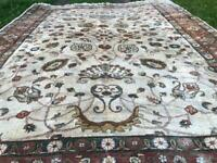 Large Handmade wool Agra Rug