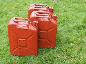 3 x 20 ltr. Jerry cans