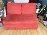 John Lewis small 2 seater barney sofa bed - red