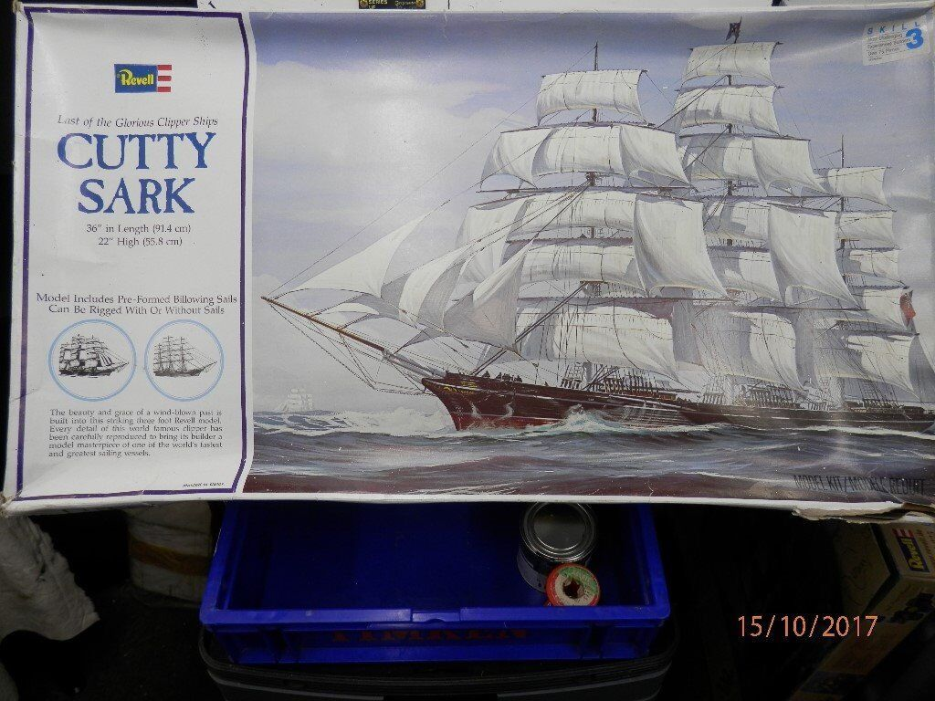 Revell 36 inch long Plastic construction kit of the Cutty Sark Tea Clipper.
