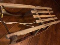 Vintage Sleigh Wooden Christmas Decoration