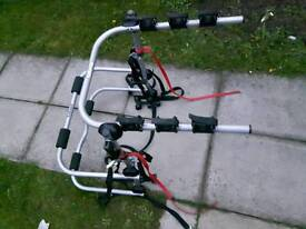 Car bike rack carrier. Halfords 3-bikes high mount rack