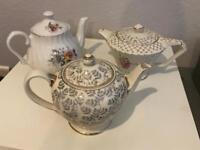 3 China teapots