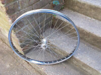 Raleigh bomber 26 x 2.125 front wheel , clearly marked raleigh