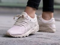 Asics gel kayano trainers size 6 beige with a pink hue new in box cost £69