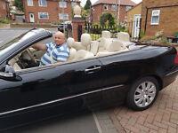 Mercedes CLK280 Elegance Auto Soft Top Black cream leather seat
