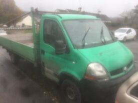 Flat bed / drop side truck (Renault master)