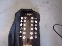Vintage 12 String Acoustic Guitar + Case