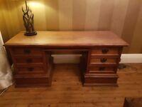 Vintage 6 draw oak pedestal desk. * Free delivery inside Edinburgh bypass
