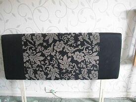 cloth black double headboard