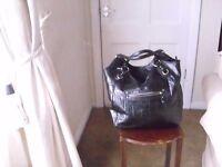 Ladies large Handbag Blackleather