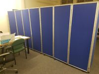 Office partition screen.