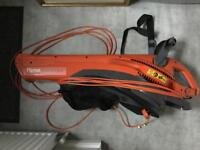 Flymo garden vac leaf collector and blower.