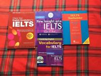 IELTS selection of books, vocabulary builder, some by Cambridge press