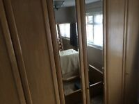 Excellent quality German bed, wardrobes, chest of drawers and side drawers