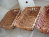 Heavy wicker baskets
