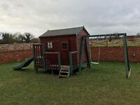 Kids playhouse inc slide and swings