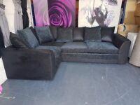 Corner Sofa Bed in Black and Grey