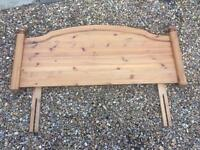 "Pine headboard for 4'6"" double bed"