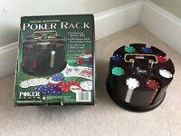 Poker Chip Set in Wooden Carousel Case 200 capacity