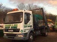 Daf lf45 skip lorry truck