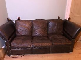 Vintage leather sofa - no fee but donation please