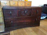 Lovely ornate wooden chest of drawers
