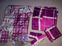 Tartan Curtains; Double Bed set and Accessories