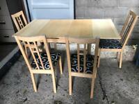 Extending dining table and 6 chairs FREE DELIVERY PLYMOUTH AREA