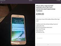 iPhone 6 Plus fully working but faulty *READ ADVERT FIRST* £165 NEED GONE TODAY OFFER ME.