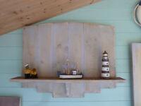 Rustic handemade floating shelf