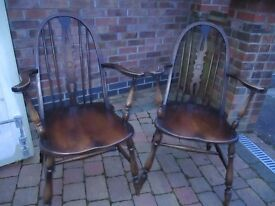 Pair of Windsor backed chairs.