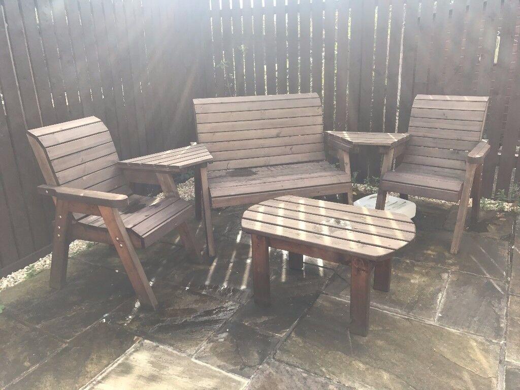 wooden garden furniture set very good condition glasgow east - Garden Furniture Glasgow