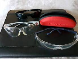 Safety Glasses clear (Two), and one sunglasses polarised