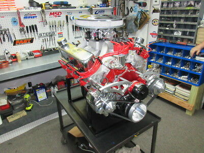 SBF Ford Complete 347CI Crate Engine EFI 425HP, Forged Piston, Edelbrock Heads