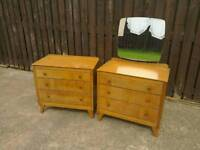 Vintage/retro dressing table and drawers