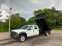 2006 Ford F-550 Crew Cab Dump Truck 6.0 Diesel PowerStroke Low Side Dump Truck