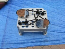 caravan towing mirrors, used twice, good condition,
